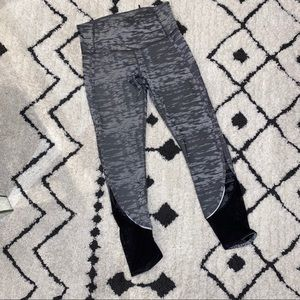 Lululemon Burnout Cropped Legging with Mesh Detail